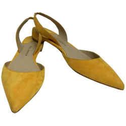 Paul Andrew Yellow Suede Slingback Flats Size: EU 39 (Approx. US 9) Regular (M, B) Item #: 23908607