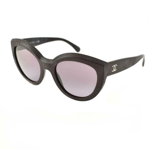 "CHANEL: Matte Deep Burgundy, Textured ""CC"" Logo Sunglasses (mc)"