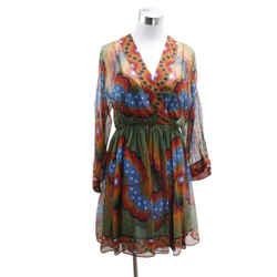 Valentino Volcano Start Print Dress Sz 4