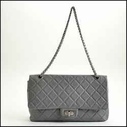 Rdc10631 Authentic Chanel '08/'09 Grey Aged Calfskin Jumbo Reissue 227 Bag