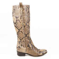 Valentino Python Snakeskin Knee High Boots SZ 37
