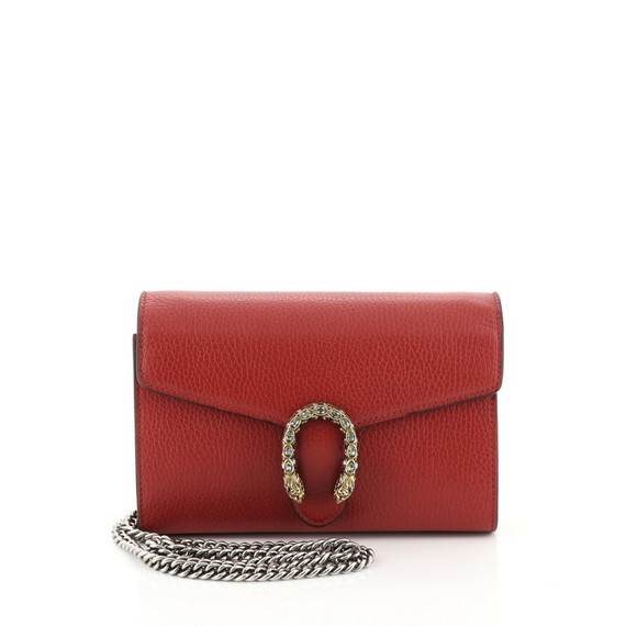 Dionysus Chain Wallet Leather With Embellished Detail Small