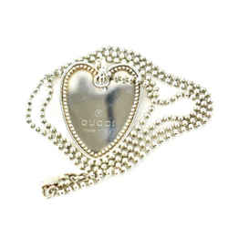 """GUCCI: Sterling Silver, """"Heart Tag"""" Logo Necklace (my)"""