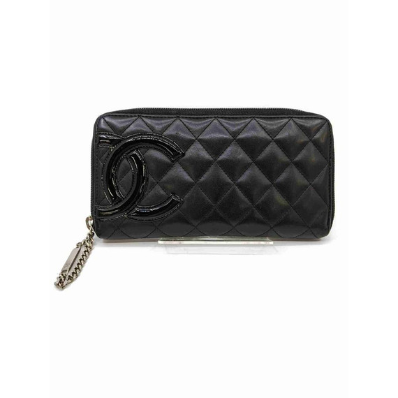 Chanel Black Quilted Leather Cambon Zippy Wallet 860965