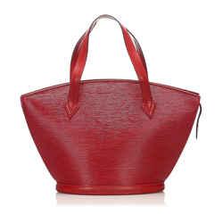 Vintage Authentic Louis Vuitton Red Epi Saint Jacques PM Short Strap France