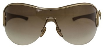 Gucci Gold Frame Gold Gradiet Aviator Gg 2747/s Eheq0 Crystal Bumblebee Sunglasses