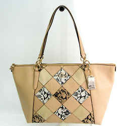 Coach Embossed Patchwork AVA Tote F57510 Women's Suede,Leather Tote Bag BF518182