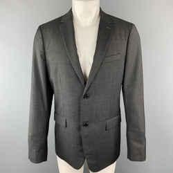 Theory 40 Regular Charcoal Nailhead Wool Single Breasted Sport Coat