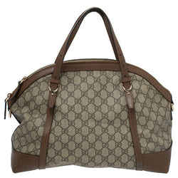 Gucci Beige/Brown GG Supreme Canvas and Leather Nice Dome Bag