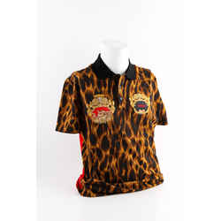 Versace Animalier Embroidered Polo