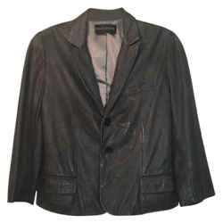 Zadig & Voltaire Grey Deluxe Lamb Leather Blazer Size: 6 (S)