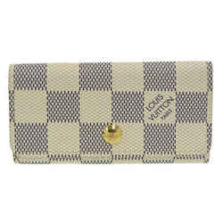 Auth Louis Vuitton Louis Vuitton Damier Azul Multikre 4 Key Case N60386