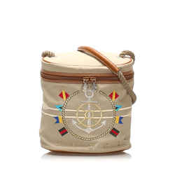 Beige Gucci Nautical Canvas Bucket Bag