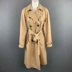 Marc Jacobs Size 6 Khaki Cotton Double Breasted A Line Trenchcoat