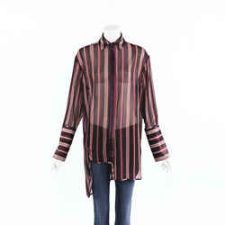 Zimmermann Folly Dapper Sheer Striped Satin Top SZ 0
