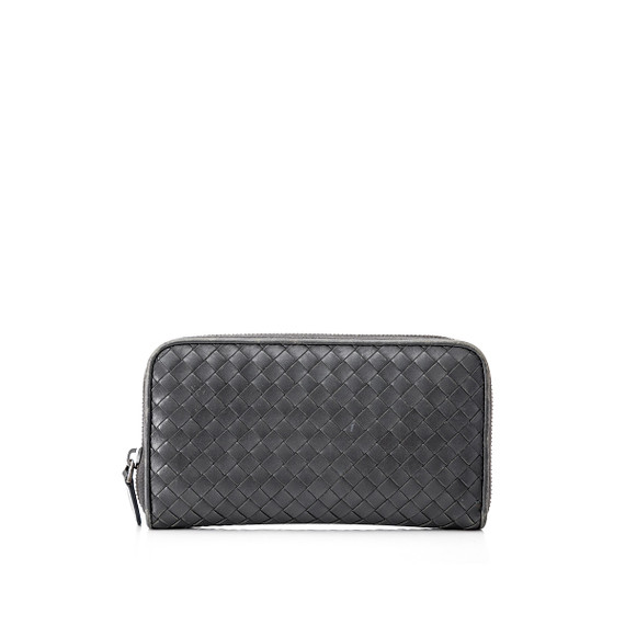 Pre-Owned Bottega Veneta Intrecciato Zip Around Wallet