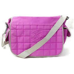 Chanel Quilted CC Sports Logo Pink Messenger Flap 871850