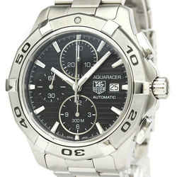Polished TAG HEUER Aquaracer Chronograph Steel Automatic Watch CAP2110 BF531450