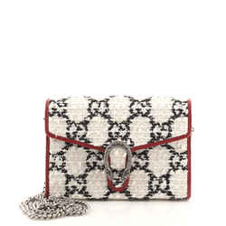 Dionysus Chain Wallet GG Tweed Small