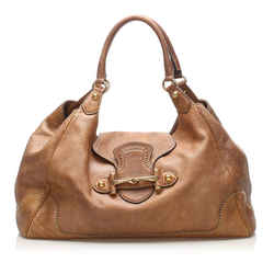 Vintage Authentic Gucci Brown Calf Leather New Pelham Shoulder Bag Italy