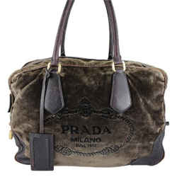 Prada Velour Brown Shoulder Bag