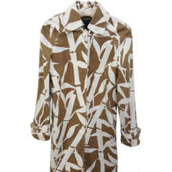 Escada Sport $750 beige/ivory abstract print tailored cotton coat~S