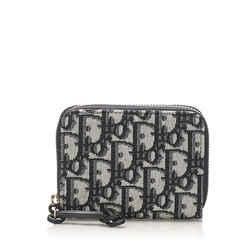 Gray Dior Dior Oblique Canvas Coin Pouch