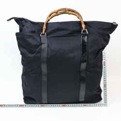 Gucci Large Nylon Bamboo Black Tall Tote 870141