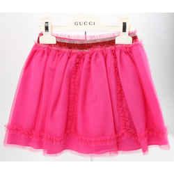Gucci Kids Elastic Waist Fuchsia Dandy Tulle Skirt