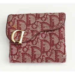 Dior Saddle Flap Card Holder