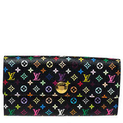 Louis Vuitton Black Monogram Multicolore Canvas Sarah Wallet