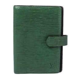 Louis Vuitton Borneo Green Epi Leather Small Ring Agenda Cover