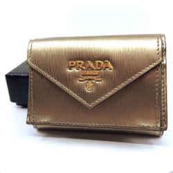 Prada Portafoglio Verticale Cipria Mordore Vitello Move Leather Wallet 1mh021