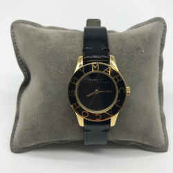 Marc Jacobs Black Leather Strap Watch