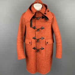 BURBERRY PRORSUM F/W 2011 Size 40 Orange Heather Wool Toggle Closure Coat