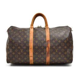 Vintage Louis Vuitton Keepall 45 Monogram Canvas Duffle Travel Bag Lr640