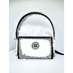Fendi Black & White Backpack (W/ Dust Bag)