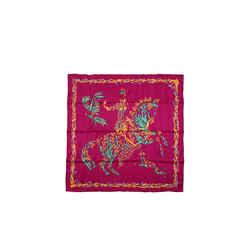 Hermes Cheval Fleuri 90 Cm Silk Scarf