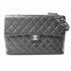 Auth Chanel Chanel Caviar Skin Deca Matrasse W Chain Shoulder Bag Black