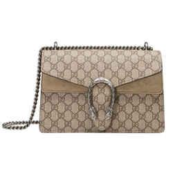 New Gucci Small Dionysus Suede Shoulder Bag
