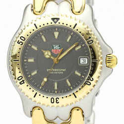 Polished TAG HEUER Sel Professional 200M Gold Plated Steel Watch WG1120 BF532265