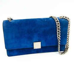 Celine Classic Women's Suede Shoulder Bag Blue BF336932