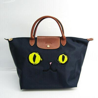 Longchamp Le Pliage Miaou 1623 576 556 Women's Leather,Nylon Handbag Bl  BF518584