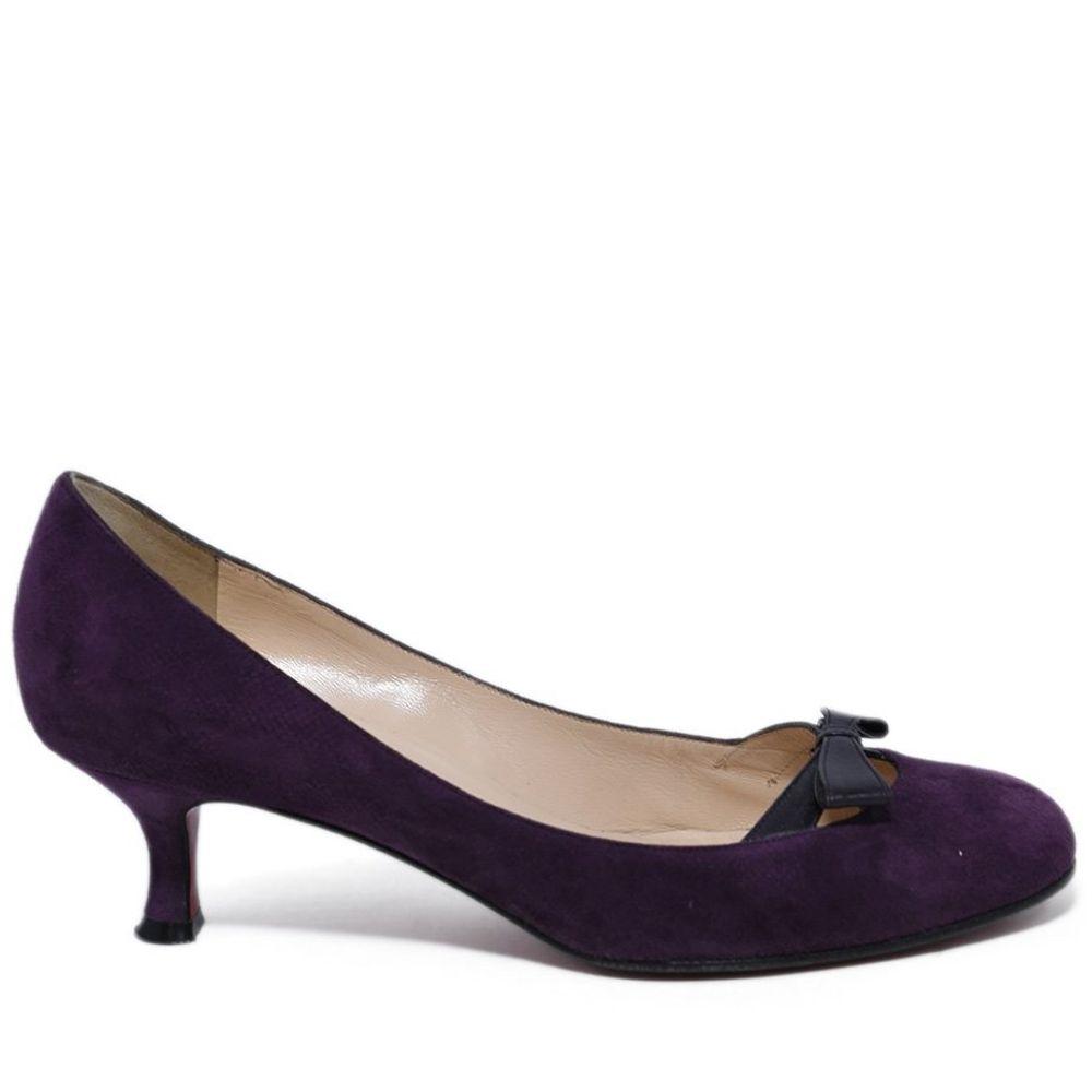 Christian Louboutin Purple Plum Suede