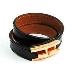 Hermes Drag De Bourtour Box Calf Leather,Metal Bracelet Black,Gold BF513884