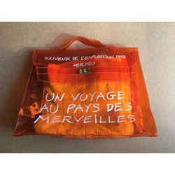 Hermes 1998 Souvenir D'exposition Clear Orange Kelly 230222