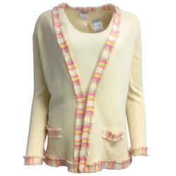 Chanel Cashmere Cream Sweater