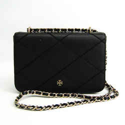 Tory Burch Quilting Stitch Chain Women's Leather Shoulder Bag Black BF518424