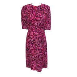 Louis Vuitton Rare Pink Graffiti Stephen Sprouse Print Dress