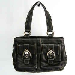 Coach Soho 8A09 Women's Leather Handbag Black BF524731